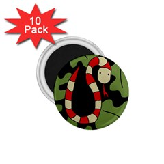 Red cartoon snake 1.75  Magnets (10 pack)