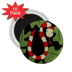Red cartoon snake 2.25  Magnets (10 pack)