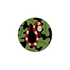 Red cartoon snake Golf Ball Marker