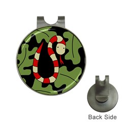 Red cartoon snake Hat Clips with Golf Markers