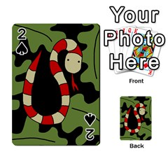Red cartoon snake Playing Cards 54 Designs