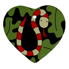 Red cartoon snake Heart Ornament (2 Sides)