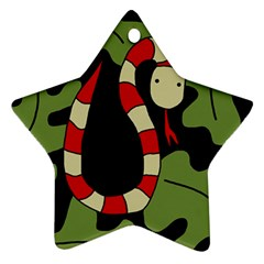 Red cartoon snake Star Ornament (Two Sides)