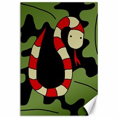 Red cartoon snake Canvas 12  x 18