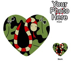 Red cartoon snake Playing Cards 54 (Heart)