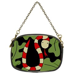 Red cartoon snake Chain Purses (One Side)