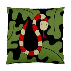 Red cartoon snake Standard Cushion Case (Two Sides)