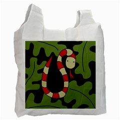 Red cartoon snake Recycle Bag (One Side)