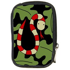 Red cartoon snake Compact Camera Cases