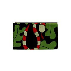 Red cartoon snake Cosmetic Bag (Small)