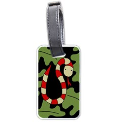 Red cartoon snake Luggage Tags (Two Sides)
