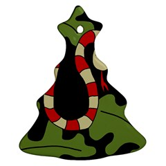 Red cartoon snake Christmas Tree Ornament (2 Sides)
