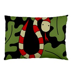 Red cartoon snake Pillow Case (Two Sides)