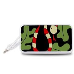Red cartoon snake Portable Speaker (White)