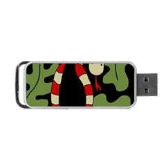 Red cartoon snake Portable USB Flash (Two Sides)