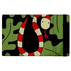 Red cartoon snake Apple iPad 2 Flip Case