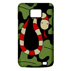 Red cartoon snake Samsung Galaxy S II i9100 Hardshell Case (PC+Silicone)