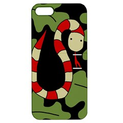 Red cartoon snake Apple iPhone 5 Hardshell Case with Stand