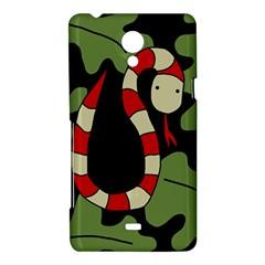 Red cartoon snake Sony Xperia T