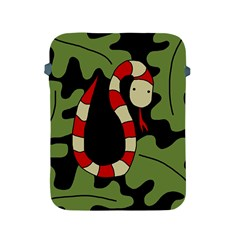 Red cartoon snake Apple iPad 2/3/4 Protective Soft Cases