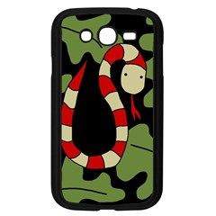 Red cartoon snake Samsung Galaxy Grand DUOS I9082 Case (Black)