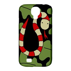Red cartoon snake Samsung Galaxy S4 Classic Hardshell Case (PC+Silicone)