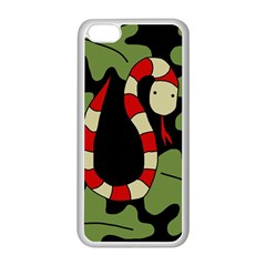 Red cartoon snake Apple iPhone 5C Seamless Case (White)