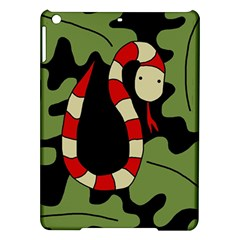 Red cartoon snake iPad Air Hardshell Cases