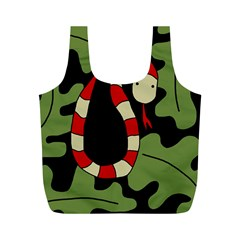 Red cartoon snake Full Print Recycle Bags (M)