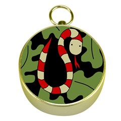 Red cartoon snake Gold Compasses