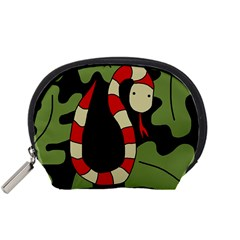 Red cartoon snake Accessory Pouches (Small)
