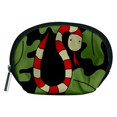 Red cartoon snake Accessory Pouches (Medium)
