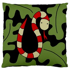 Red cartoon snake Standard Flano Cushion Case (Two Sides)