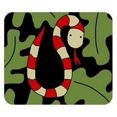 Red cartoon snake Double Sided Flano Blanket (Small)