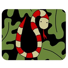 Red cartoon snake Double Sided Flano Blanket (Medium)