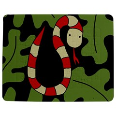 Red cartoon snake Jigsaw Puzzle Photo Stand (Rectangular)