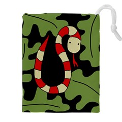Red Cartoon Snake Drawstring Pouches (xxl)