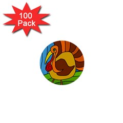 Thanksgiving turkey  1  Mini Buttons (100 pack)