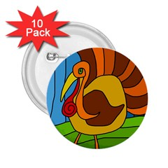 Thanksgiving turkey  2.25  Buttons (10 pack)