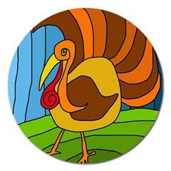 Thanksgiving turkey  Magnet 5  (Round)