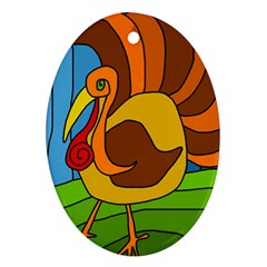 Thanksgiving turkey  Oval Ornament (Two Sides)