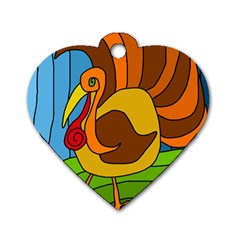 Thanksgiving turkey  Dog Tag Heart (Two Sides)