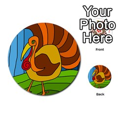 Thanksgiving turkey  Multi-purpose Cards (Round)
