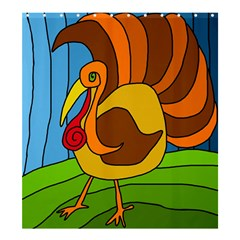Thanksgiving turkey  Shower Curtain 66  x 72  (Large)