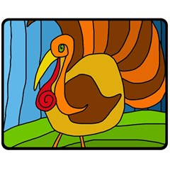 Thanksgiving turkey  Fleece Blanket (Medium)