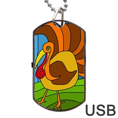 Thanksgiving turkey  Dog Tag USB Flash (One Side)