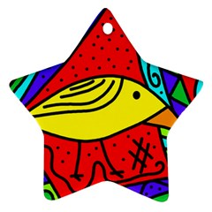 Yellow bird Ornament (Star)