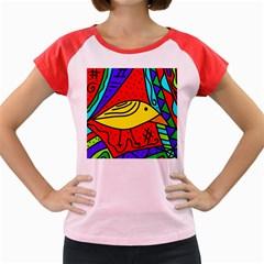 Yellow bird Women s Cap Sleeve T-Shirt