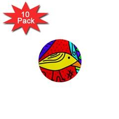 Yellow bird 1  Mini Magnet (10 pack)