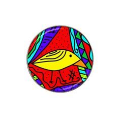 Yellow bird Hat Clip Ball Marker (4 pack)